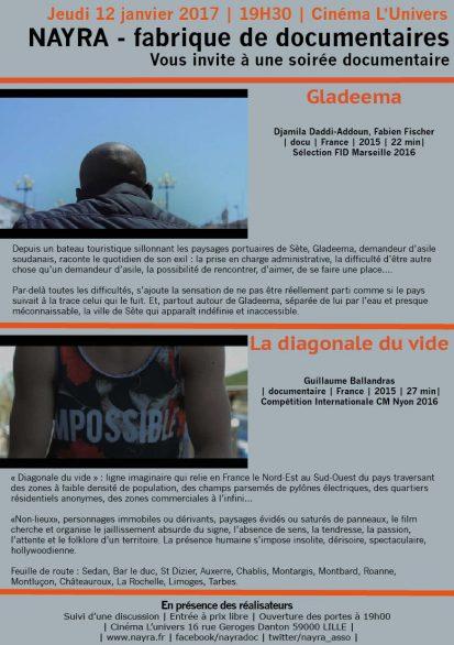Gladeema + La diagonale du vide | cinéma l'Univers